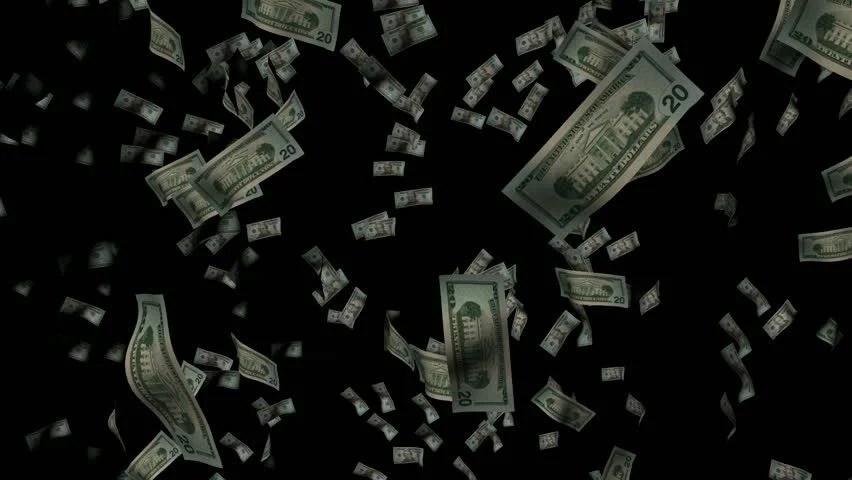 Money Falling Wallpaper Raining Money Stock Footage Video 200200 Shutterstock