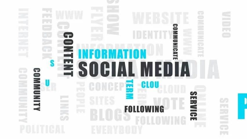 Social Media Word Cloud Stock Footage Video 3509882