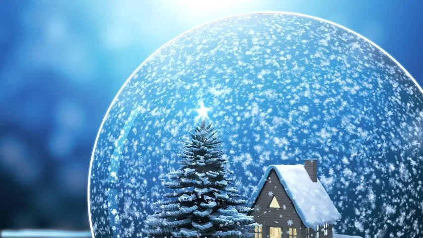 Free Download Of Christmas Wallpaper With Snow Falling Loop Able Christmas Snow Globe Snowflake With Snowfall On