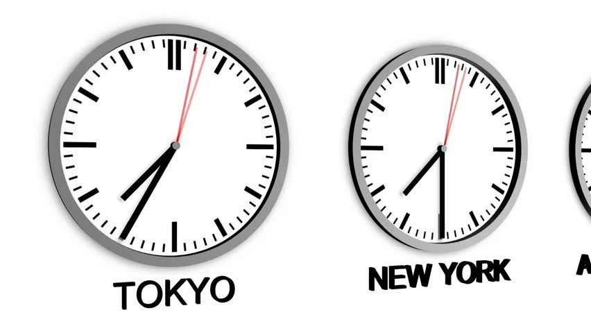 Wall Clocks Showing Different Time Zones Fly By Stock Footage Video 5225618 - Shutterstock