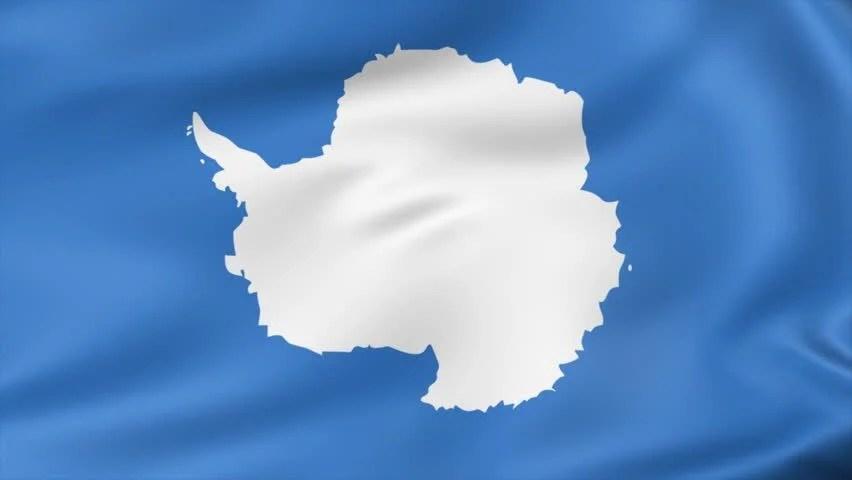 Animated Flag Antarctica