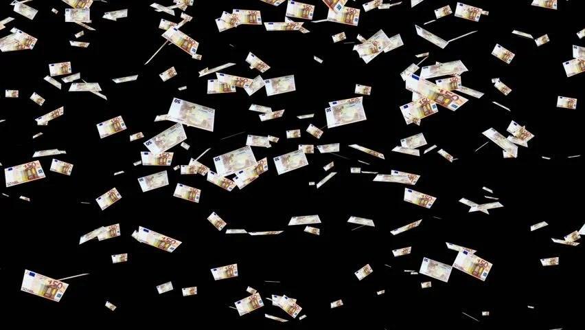 Falling Money Wallpaper Hd 50 Euro Banknotes Falling Animation Money Rain You Can
