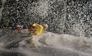 Slava Snowshow Yellow clown in storm by Vladimir Mishukov