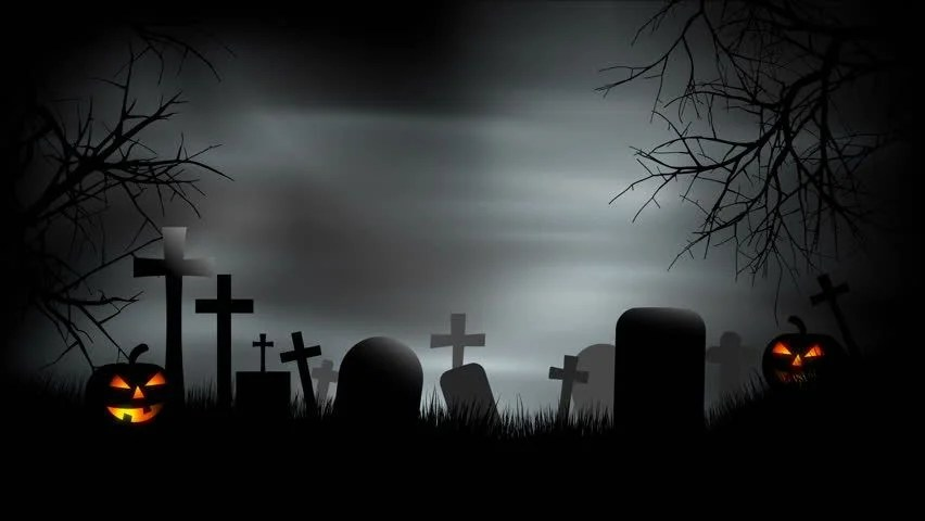 Fall Graveyard Cemetery Wallpaper A Creepy Graveyard Halloween Background Scene With Graves