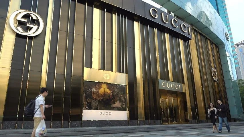 HONG KONG. CHINA - CIRCA JUNE 2014: Gucci Store. Central Business District. Gucci Is An Italian Fashion And Leather Goods Brand. Founded By Guccio ...