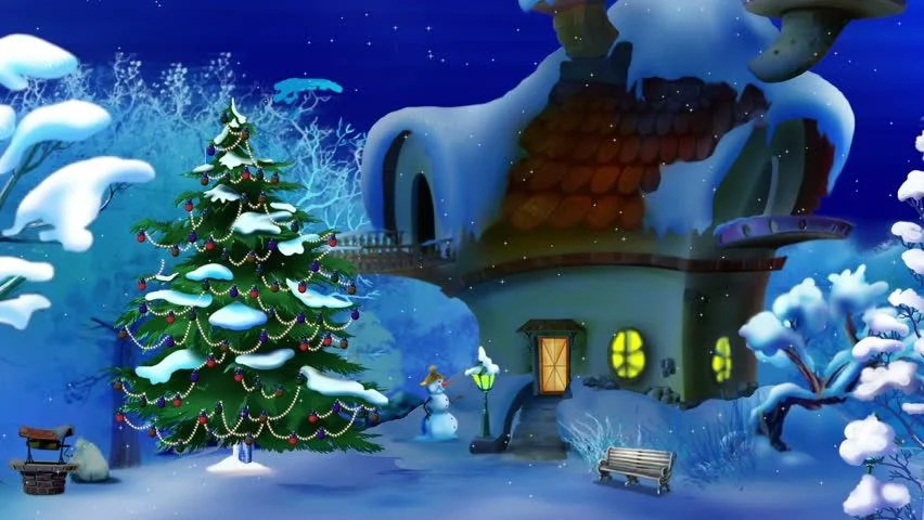 Free Animated Snow Fall Wallpaper Christmas Land Looping Fly Through Animation Of A Journey