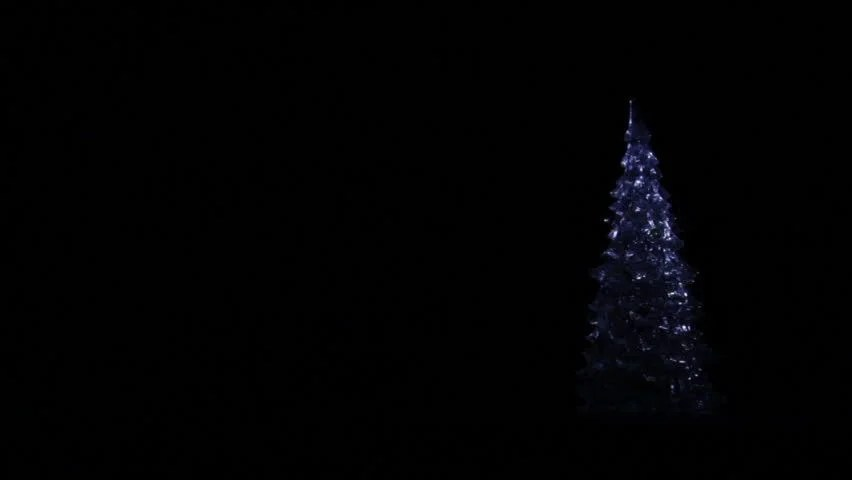Animation Of Appearing Christmas Tree From Sparkles The