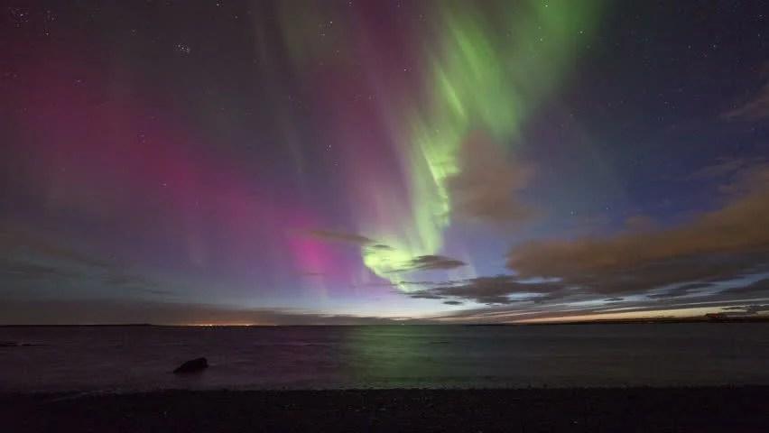 Jokulsarlon Northern Lights