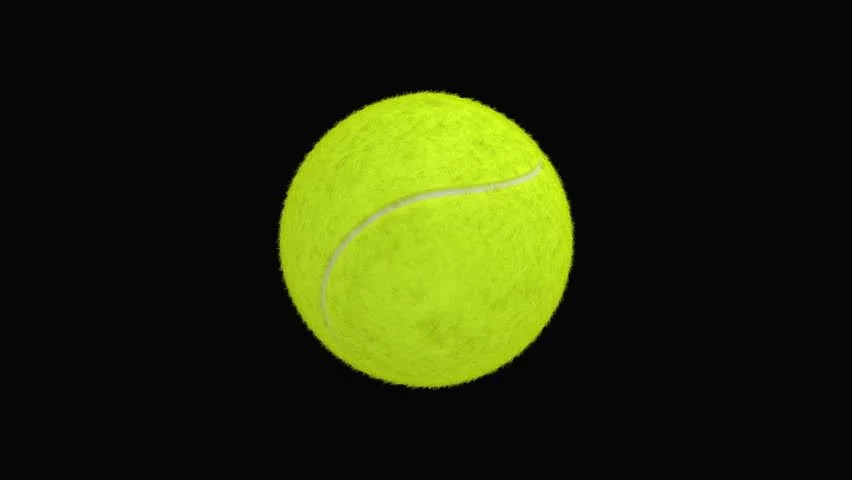Tennis Ball Spins Through The Air, Emits A Trail Of Smoke