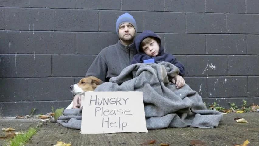 Image result for homeless man and dog