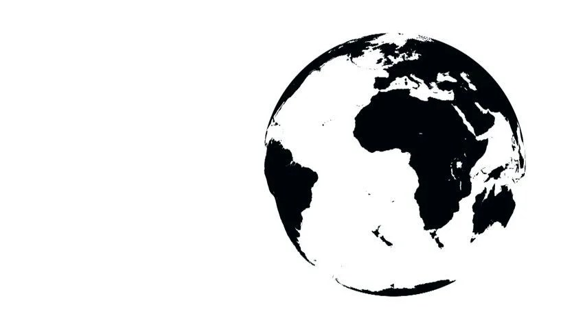 Loopable Rotating Earth Planet Globe Silhouette Stock