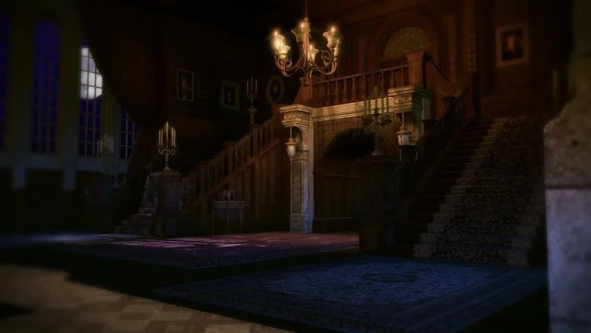 A 3D Animated Haunted Mansion Filled With Poltergeist