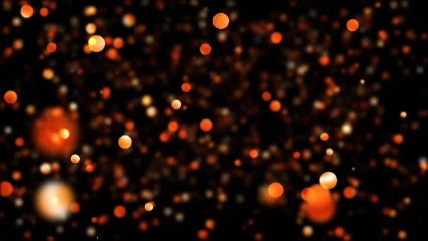 Falling Stars Grunge Wallpaper Abstract Black Background Gold Bubble Lights Or