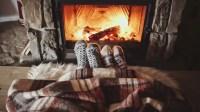 Couple Feet In Woollen Socks By The Cozy Fireplace, 4K ...