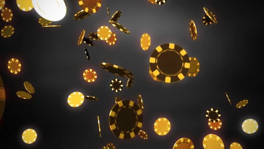 Falling Money 3d Wallpaper Falling From Above The Golden Rain Of Coins With A Dollar