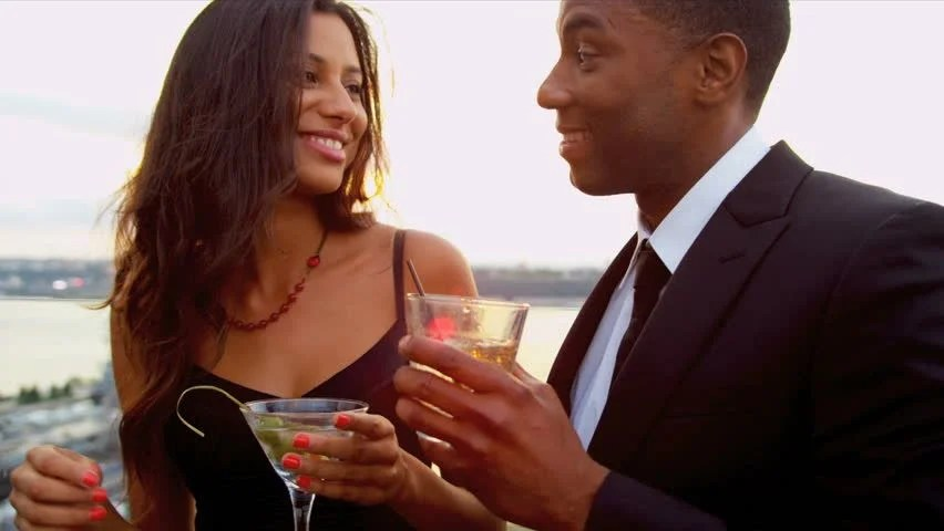 Image result for african american man and woman on date