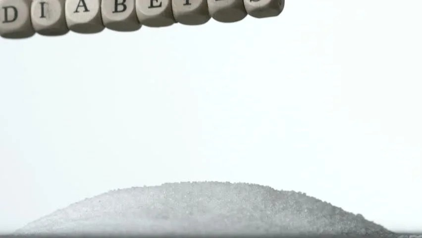 Falling Images Live Wallpaper Dice Spelling Out Diabetes Falling Over Pile Of Sugar On