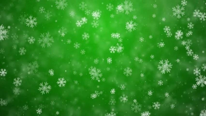 Green And White Snowflake Wallpaper