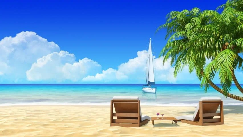 Quiet Girl Wallpaper Download Romantic Couple Resting On Sunbed At Maldives Seaside