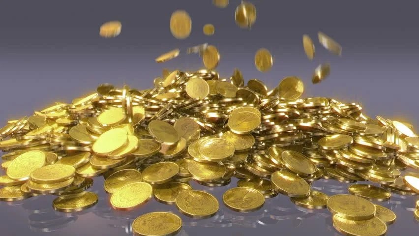 Falling Money 3d Live Wallpaper Falling Coins High Quality Animation Of Falling Coins