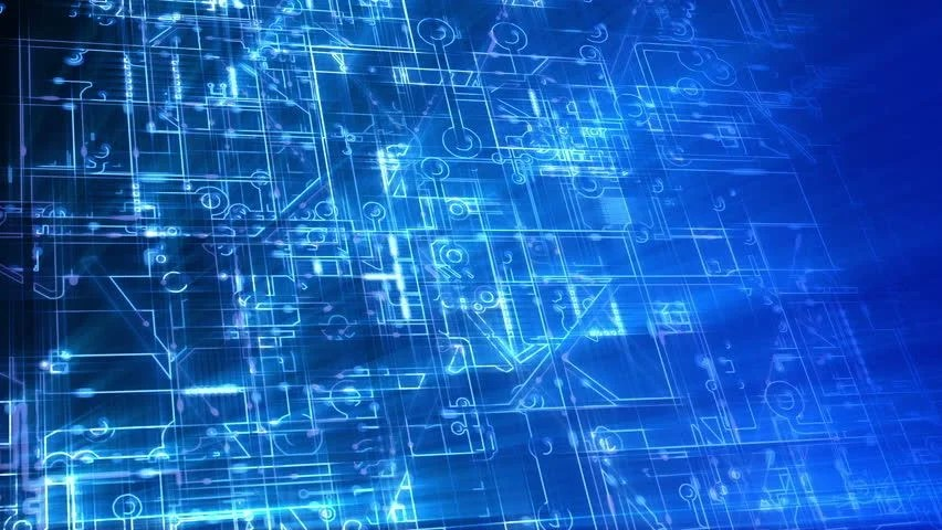 Abstract Electronic Circuits Loop Technology Background Animation