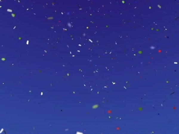 falling confetti stock footage