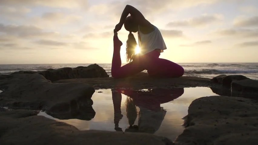 Image result for yoga silhouette sunset