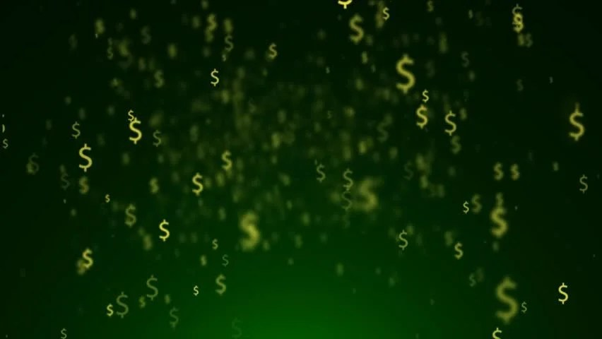 Falling Money Wallpaper Hd Background Of Dollar Yellow Signs Flying Dollar Signs