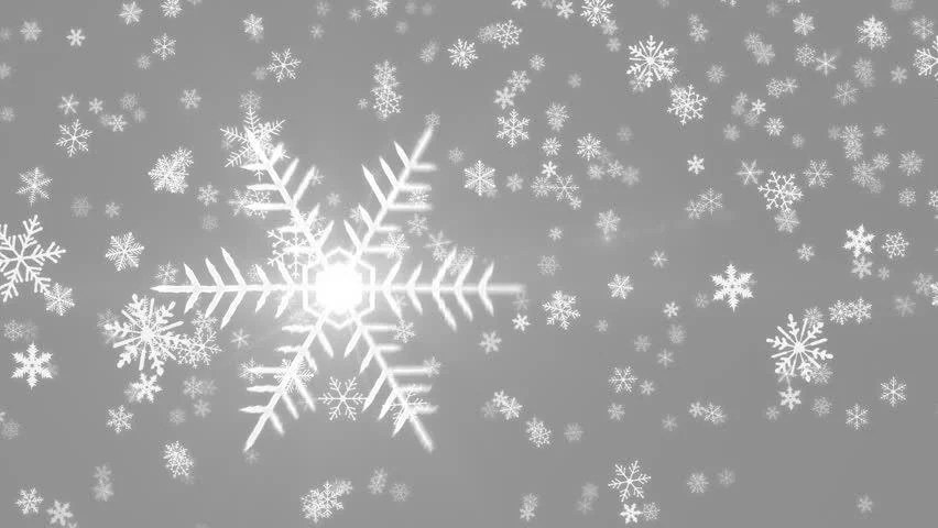 Grey Colorful Abstract Snowing Christmas Motion Background