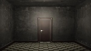 dark door opening screen open 3d 1080p brick illuminating footage shutterstock 30fps