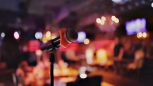 karaoke bar microphone background footage shutterstock party christmas