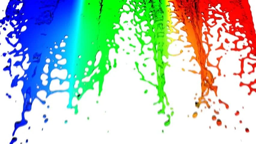 Water Falling Live Wallpaper Download Colored Water Falling On White Background Hd 1080 With