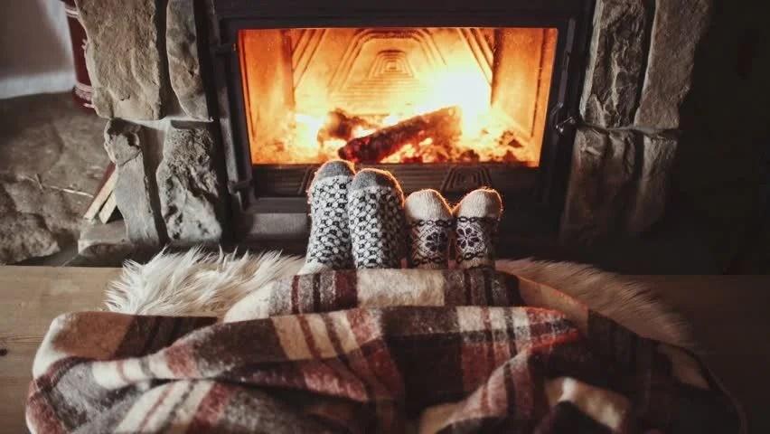 Free Fall Harvest Desktop Wallpaper Couple Feet In Wool Socks By The Cozy Fireplace 4k Man