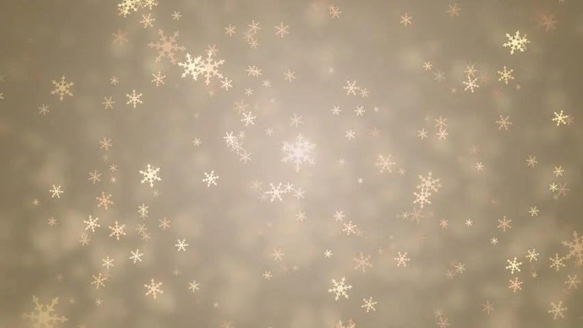 Falling Glitter Wallpaper Beautiful Snowflakes Winter Gold Background Stock