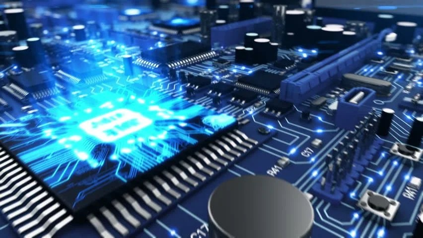 Circuit Board Seamless Pattern Stock Vector C Plutofrosti