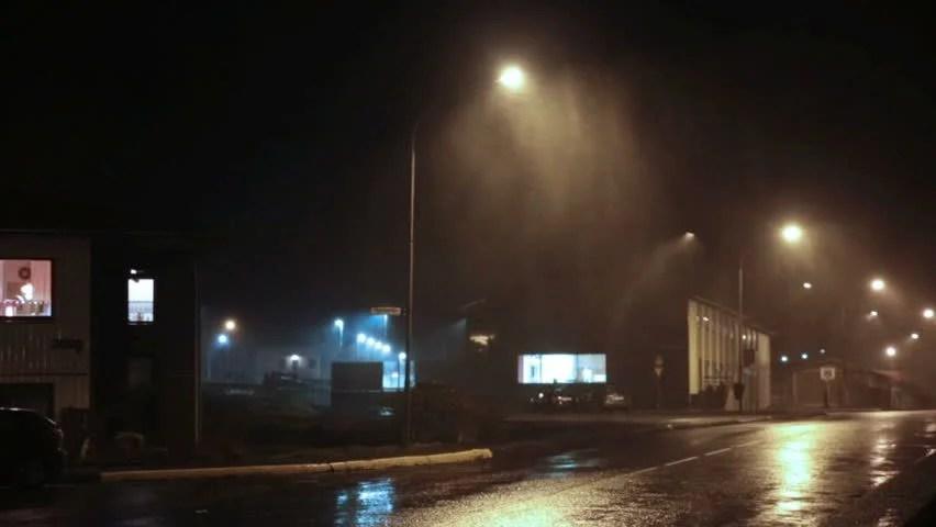 Falling Water Wallpaper Hd Rain On Street Lamp At Night Stock Footage Video 8059645