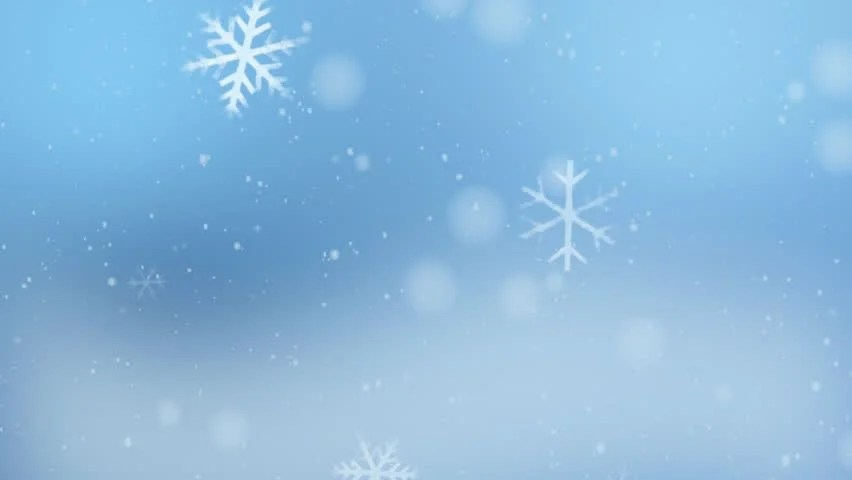 Free Desktop Wallpaper Falling Snow Looping Movie Of Snow Crystals Falling Over A Blue