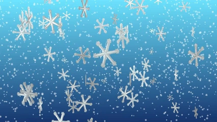 Wallpaper Hd Snow Falling Animated Snowflakes Festive Seasonal Background Stock