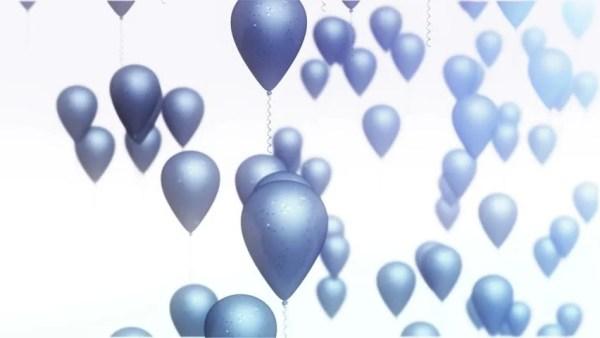 blue balloons animation hd stock