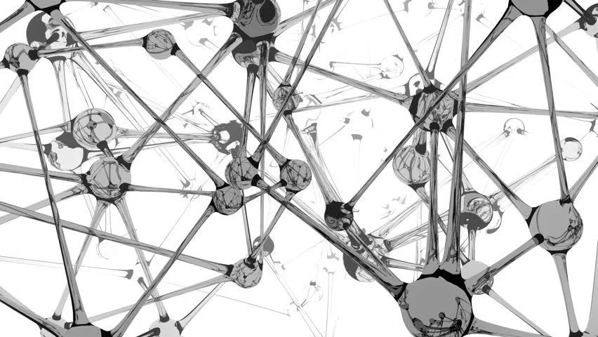 Seamless Loop, Background Animation Of A Glass, Neuron