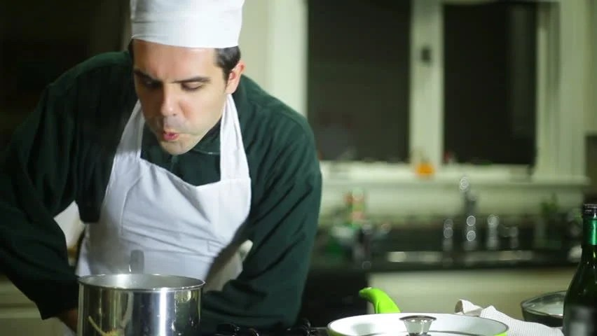Chef Spitting In Food Stock Footage Video 5036591
