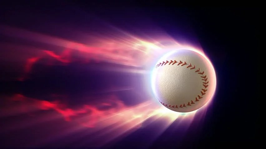 Beisbol Wallpaper 3d Baseball With Fire Trail And Alpha Stock Footage Video