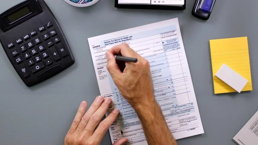 Filling The Form. Stock Footage Video 3066631