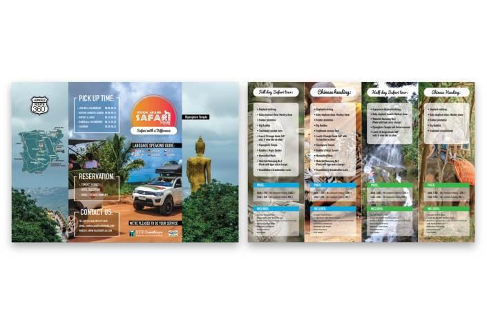 SAFARI leaflet design