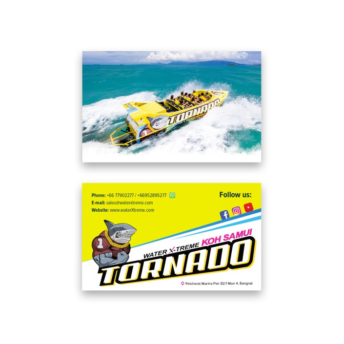 Tornado business cards design