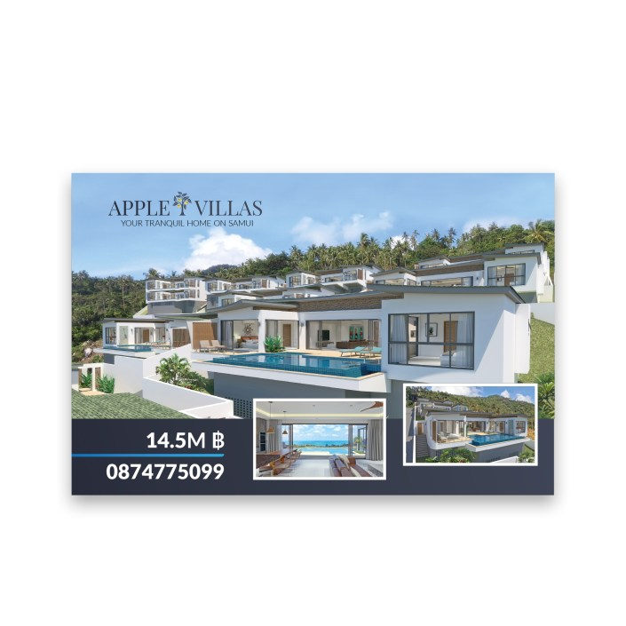 Apple Villas banner design on Koh Samui