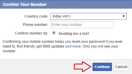 facebook two step verification