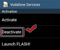 How to stop Flash Messages in Vodafone