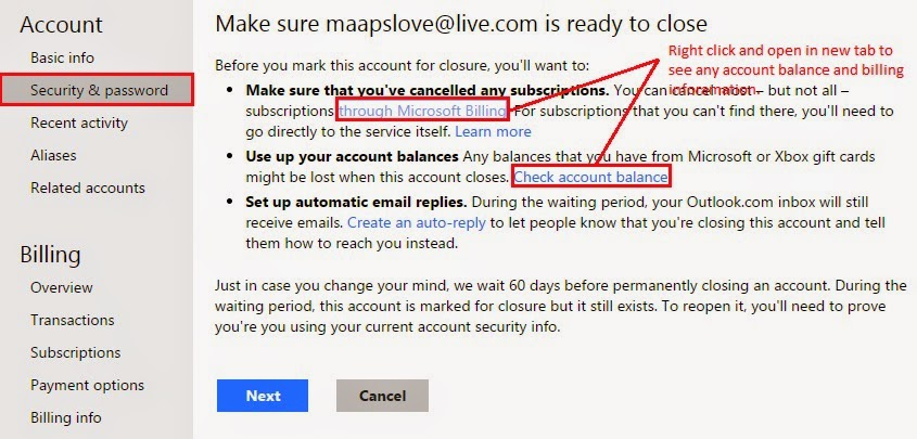 one live mail how to delete all