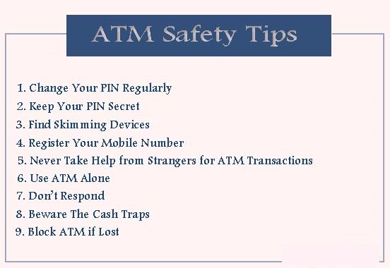 Safety Tips While Using ATM